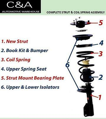 04-11 GMC - Canyon(2)   front Complete Struts & Coil Spring Assembly RWD 6