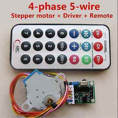 5V 4-phase 5-wire Stepper Motor +Remote Control Speed Wireless +Driver Board New 2