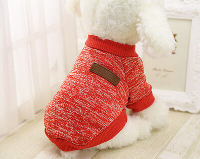 Pet Clothes Knitted Puppy Dog Jumper Sweater For Small Dogs Coat Cat UK STOCK 9