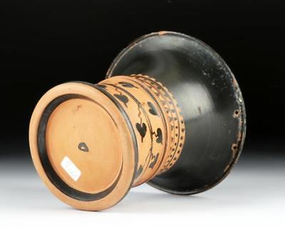 Greek Attic Pottery Glazed Kalathos - Very Rare Lot 19