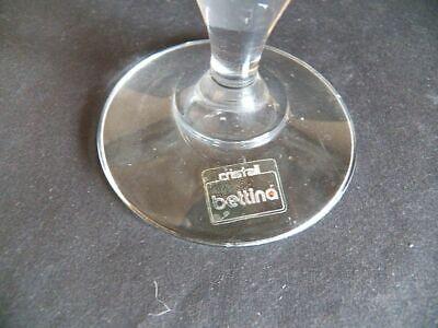 1 Kerzenhalter Kerzenständer aus Glas mit Goldrand für Tafelkerzen// cristall bet