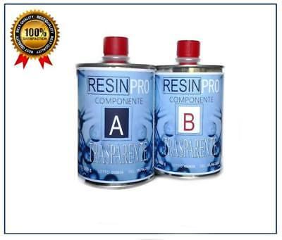 Resina Epossidica Trasparente Gr 800 - Bicomponente A+B - Da Resin Pro 2