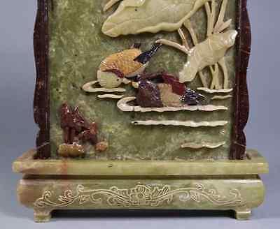 China Old  Ink Stone Screen shoushan stone 硯屏 /  KENBYO / Qing Dynasty 7