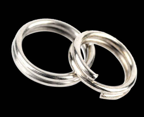 100Pcs 4-10mm Stainless Steel Round Split Rings Small Double Ring Jewelry Making 4