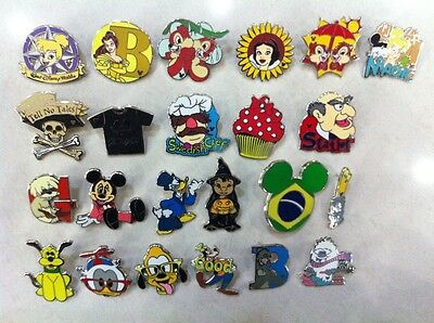 ~! 50 Mickey Disney Collectible Trading Pins Lot! 100% tradable HM LE CAST~! 6