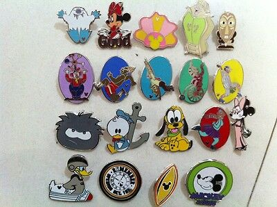 ~! 50 Mickey Disney Collectible Trading Pins Lot! 100% tradable HM LE CAST~! 11