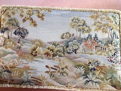 Antique Tapestry Ottoman 2