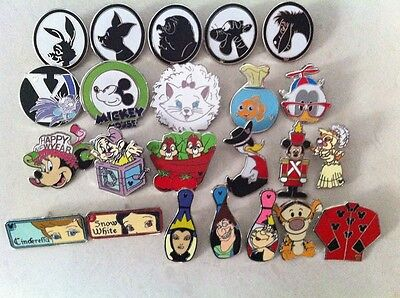 ~! 50 Mickey Disney Collectible Trading Pins Lot! 100% tradable HM LE CAST~! 10