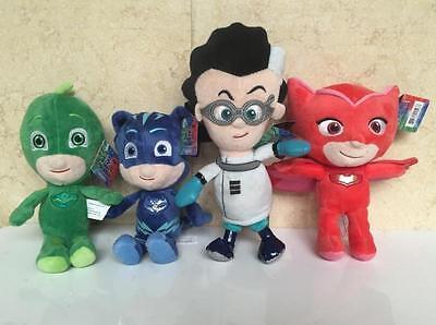 4pcs Hot PJ Masks Gekko Catboy Owlette Romeo Plush Doll Toys Stuffed Soft Kids 7