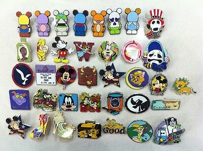 ~! 50 Mickey Disney Collectible Trading Pins Lot! 100% tradable HM LE CAST~! 12
