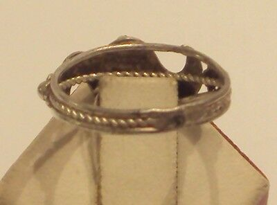 Excellent Early 20Th Century Silver Ring With Open-Work // 887 6