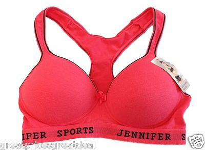e44d2e231bd8b 3 of 12 6 JENNIFER SPORTS Wire Free RazorBack BRAS Cotton Yoga Workout   61014 B C Cup