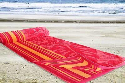9 Of 10 New Jumbo Extra Large Beach Towel 100 Cotton Velour Bath Sheet Holidays