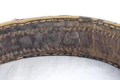 Amazing Silver & Gold Leather Ottoman Folk Handmade Belt Buckle Antique VTG 10