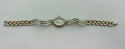 Vintage Quartz Harve Benard Wrist Watch Analog Pearl tone Face Bezel Metal Set 4