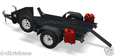 Trailer Plans - MOTORBIKE TRAILER PLANS - 3 Bike Design 7x5ft - PLANS ON CD-ROM 4