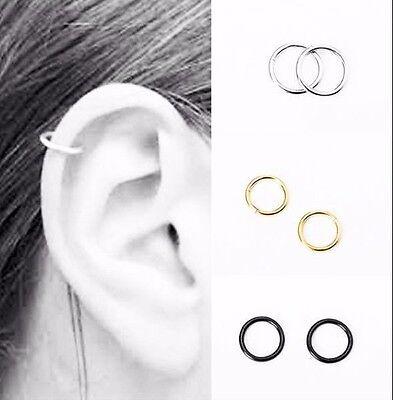 Surgical Steel Ring Hoop Ball Septum Nose Lip Ear Tragus Helix Piercing Daith 8