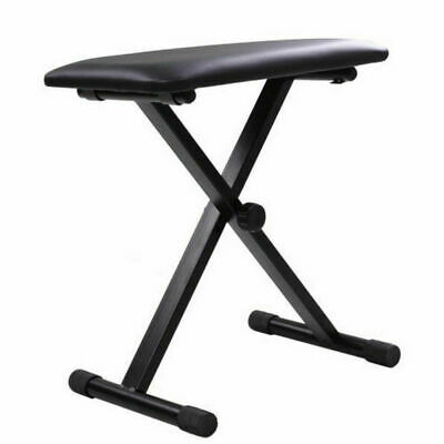 Portable Piano Stool Adjustable 3 Way Folding Keyboard Seat Bench Chair Black 2