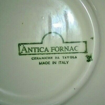 """Antica Fornace Ceramiche Handpainted Serving Platter Yellow Black Olives 17.75"""" 10"""