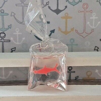 GOLDFISH IN A BAG for 1:12th scale dolls house fairground vintage child pet DH23
