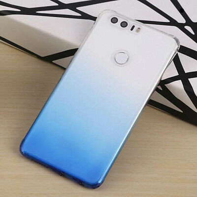 For Huawei Honor 8 Ultra Thin Gradient Color Clear Gel Skin Case Back Cover 9