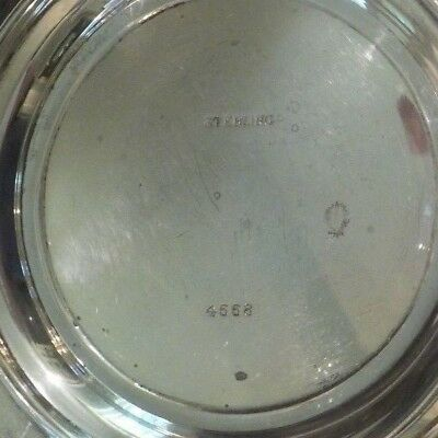 "Watson Sterling Silver Reticulated 8"" Sandwich/Dessert Plate / Tray, #4558 8"