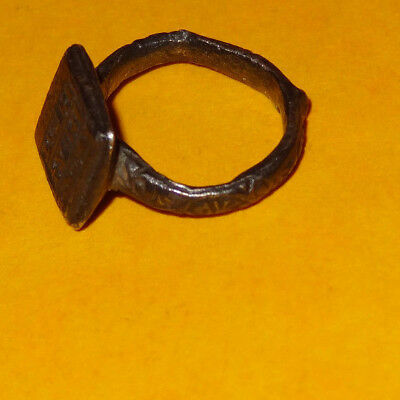 Byzantine ring - Original  ancient ring - medieval ring - silver - 11th/13th c. 9
