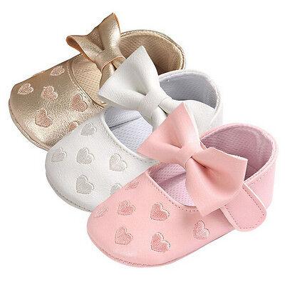Toddler Girl Boy Shoes Baby Bowknot Soft Sole Newborn Prewalker Sneakers Newborn 2