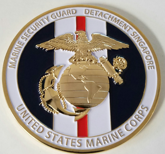 USMC MARINE SECURITY Guard Detachment MSG-Det US Embassy Singapore