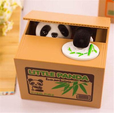 Creative Piggy Bank Panda Cat Steal Money Coin Cents Saving Box Kids UK SELLER
