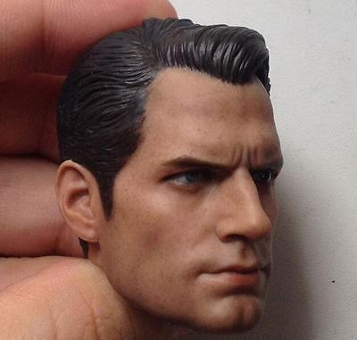 1//6 Scale Henry Cavill Head Sculpt For Hot Toys Body Regular HW//O Neck