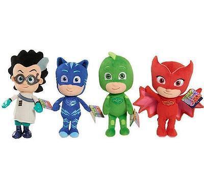 4pcs Hot PJ Masks Gekko Catboy Owlette Romeo Plush Doll Toys Stuffed Soft Kids 2