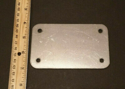 3 x 5 x 16ga inch rectangular flange plate plates steel mounting cover block off 3