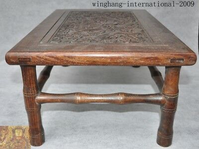 chinese Huanghuali wood Carving Dragon Classical furniture coffee table Tea desk 5