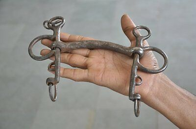 Old Iron Handcrafted Solid Unique Design Horse Bridle / Bit , Nice Patina