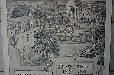 Affiche 1932 !  La Maison d'Erasme & la collégiale des Saints-Pierre-et-Guidon 3