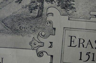 Affiche 1932 !  La Maison d'Erasme & la collégiale des Saints-Pierre-et-Guidon 8