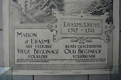 Affiche 1932 !  La Maison d'Erasme & la collégiale des Saints-Pierre-et-Guidon 4