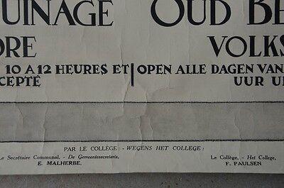 Affiche 1932 !  La Maison d'Erasme & la collégiale des Saints-Pierre-et-Guidon 6