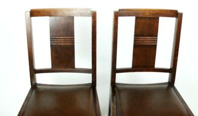 Art Deco pair of Oak Wood Dining Chairs | Patina - PRICE IS FOR PAIR [PL2033B] 7