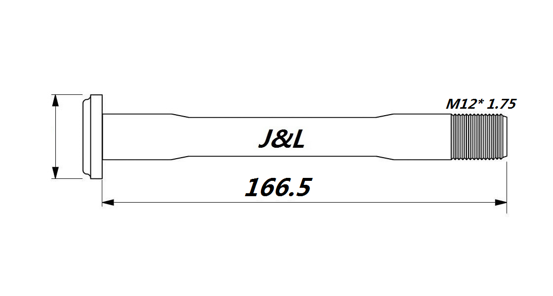 J/&L Thru Axle 100//142* 12mm-20g/&28g-for Canyon ENDURANCE/&Ultimate Front/&Rear