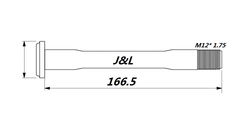 J/&L Thru Axle 100//142* 12mm-19g/&26g-for De Rosa SK Pininfarina