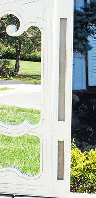 antique FARM SHABBY MIRROR ed CUPBOARD DOOR 2