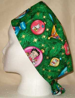 63eee63a886 1 of 12FREE Shipping Surgical Scrub Hat Skull Cap Christmas Holiday Fabric  You Pick Medical Nurse ER