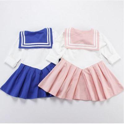 aa92153032ad5 JAPANESE ANIME KID Baby Girls Sailor Moon Cosplay Bowknot Dress Kawaii  Lolita