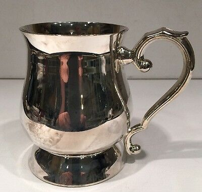 Silver plated 1 Pint Georgian Tankard Made In China Collectible 3