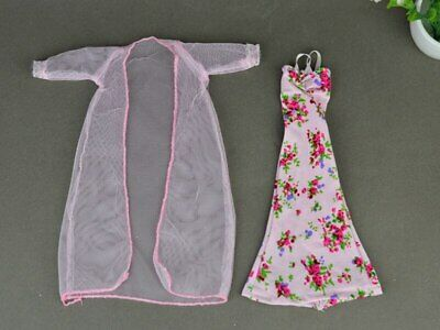 2pcs/set Fashion Clothes For Barbie Doll Dress Pajamas Lace Lingerie Sleepwear 12