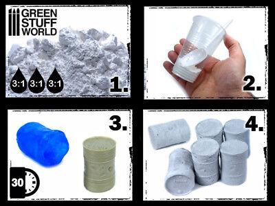 Resina Acrílica - polvo para mezclar con agua moldes bases dioramas cerámico 40k 4