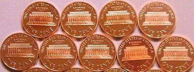 2000-2008 S Lincoln Memorial Cent Gem Deep Cameo Proof Run 9 Coin Set US Mint. 2