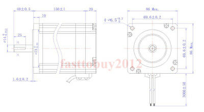 DSP 12NM Closed Loop Stepper Motor Nema34 Driver + Transformer Engraving Machine 4